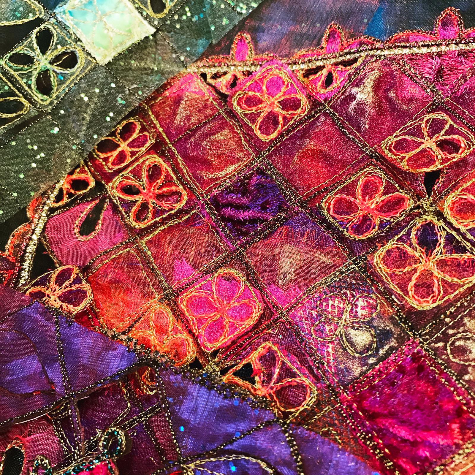 Machine Embroidery Indian Tile Alexandra Waylett